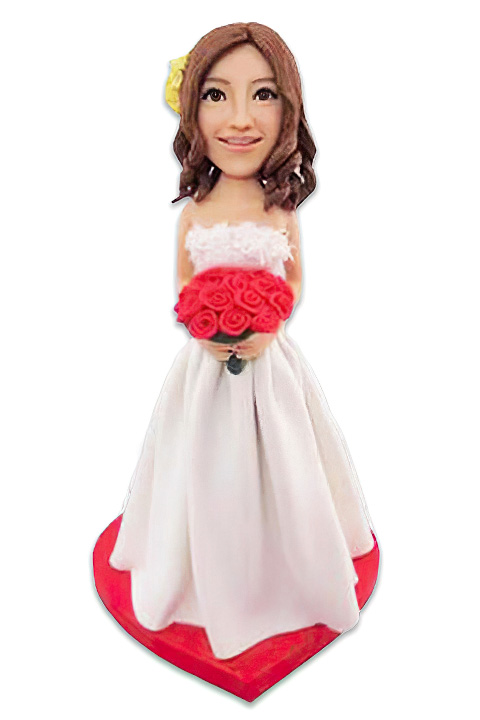 Custom Wedding Bride Bobblehead - Click Image to Close
