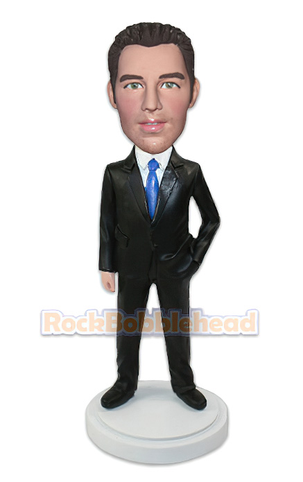Man Executive Suit Custom Bobblehead - Click Image to Close