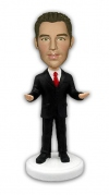 Humorous Businessman Card Holder Bobblehead