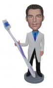 Dentist With Toothbrush Custom Bobblehead