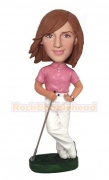 Female Golfer Bobblehead