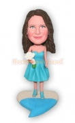 Bridesmaid Custom Bobblehead 3