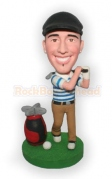Golfing With Bag Custom Bobblehead