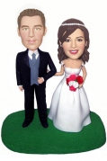 Traditional Couple Cake Topper Bobblehead