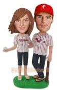 Baseball Fans Couple Custom Bobblehead