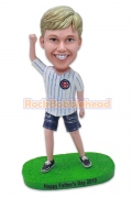 Baseball Fans Kid Custom Bobblehead