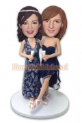 Bride and Bridesmaid on Wedding Party Bobblehead