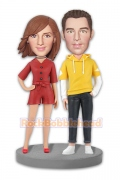 Casual Fashion Couple Custom Bobblehead