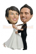 Dacing Wedding Couple Bobblehead