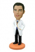 Male Doctor with Stethoscope Bobblehead