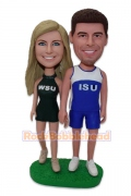 Exercising Couple Custom Bobblehead