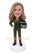 Female Airforce Pilots Custom Bobblehead