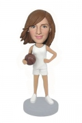 Female Basketball Custom Bobblehead