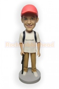 Hiker Custom Bobblehead Doll