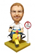 Male on Scooter Bobble Head Doll
