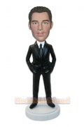 Man Executive Suit Custom Bobblehead