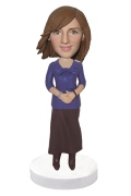 Office Lady Custom Bobblehead Doll