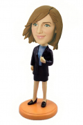 Office Lady in Suit Bobblehead