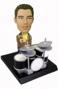 Rock Band Drummer Bobble Head Doll