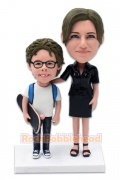 Skater Boy and Mom Custom Bobblehead