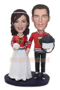 Sport Fans Wedding Cake Topper Bobblehead