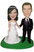 Wedding Couple Hand in Hand Bobblehead