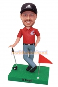 Golf Player Personalized Bobblehead