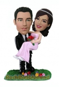 Groom Carried Bride Custom Bobblehead 2