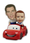 Father and Son In the Animated Car