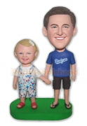 Daddy and Daughter Custom Bobblehead