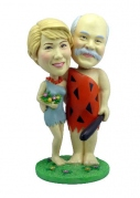 Stone Age Couple Custom Bobblehead