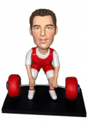 Male Weight Lifter Custom Bobblehead