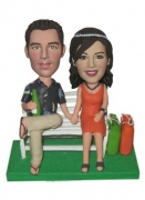 Couple Sit On The Chair Bobblehead