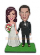 Wedding Couple Hand in Hand Custom Bobblehead