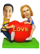 Valentines Day Lovers Bobblehead