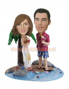 Couples Under the Palm Bobblehead