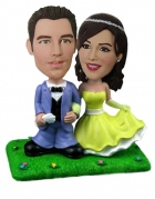 Custom Wedding Cake Topper Bobblehead