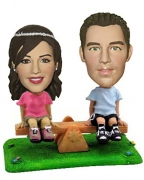See-Saw Couple Bobblehead