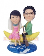 Romantic Couple On Banana Boat