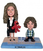 Busy Mom with Kid Custom Bobblehead