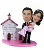 Groom Carried Bride Custom Bobblehead