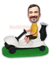 Golfer Driving Golf Car Custom Bobblehead