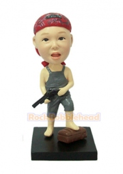 Pirate Boy with Gun in Hand Custom Bobblehead