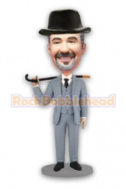Detective With Crutches In Hand Bobblehead