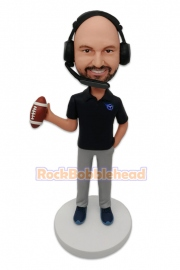Football Coach Custom Bobblehead