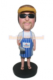 Chef Man Cooking Custom Bobblehead