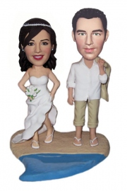 Wedding Beach Custom Bobblehead Doll