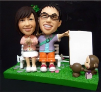 Outdoor Portrait  Bobblehead Couple