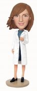 Female Doctor with Lab Coat Bobblehead